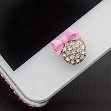 Iphone Home Button Decoration 2pcs Cute Shiny New Bling Decor Home Button Stickers For Iphone 5