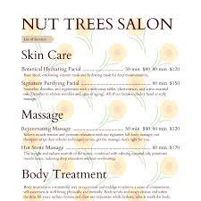 salon menu templates from imenupro