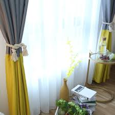 Striped Blackout Curtains 3 Colors Striped Blackout Curtains For The Bedroom Cotton Linen