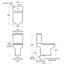 size of toilet standard toilet dimensions google search standards pinterest