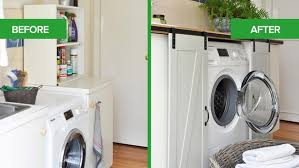 old laundry room remodel with no personality gains character