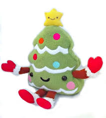 kawaii christmas tree a character plushie sewing on cut out keep
