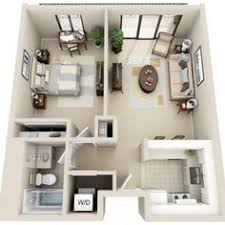 Single Bedroom Apartment Floor Plans Beautiful 3d Small House Floor Plans One Bedroom On Budget Home