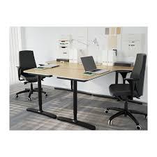 Galant Corner Desk Right Bekant Corner Desk Right Black Brown Black 160x110 Cm Ikea