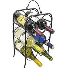 amazon com spectrum diversified townhouse wine rack 6 bottle