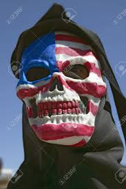 A American Flag Pictures Death Mask With An American Flag Of The Grim Reaper At George