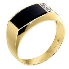 gold ring for men a classic 9ct yellow gold ring set with onyx a chic ring for the