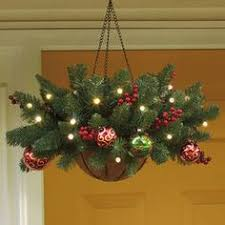 christmas hanging baskets with lights cordless pre lit christmas hanging basket 24 dia holiday decor