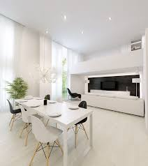 modern white dining room table modern white dining room table with living area laurencemakano co