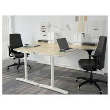 White Corner Writing Desk by Bekant Corner Desk Left White Ikea