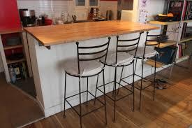 faire un bar de cuisine bar transformable en table haute à manger en chêne brut hopfab