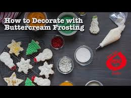 decorate cookies with buttercream frosting youtube