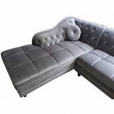 canap d co canapé d angle velours canap d 39 angle 4 places en velours gris