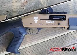 Laser Engraving Laser Engraved Cerakote Shotgun With Punisher Logo And Skull