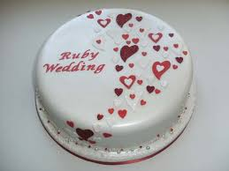 wedding anniversary cakes 30 best ruby anniversary cake ideas images on