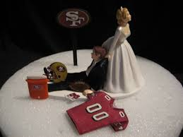 grooms cake toppers san francisco 49ers wedding cake topper groom by finsnhorns