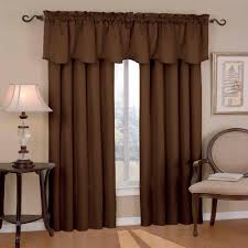 Valances Living Room Eclipse Canova Blackout Chocolate Polyester Curtain Valance 21 In