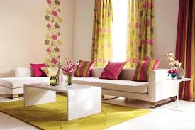 Mustard Curtain Floral Print Mustard Curtain Design For Living Room With White