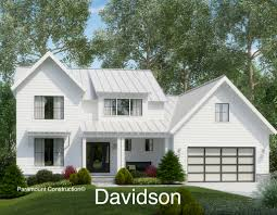 davidson model home plan farmhouse style new home
