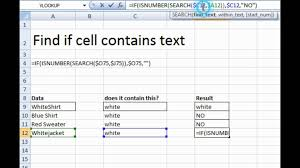 find text in a cell spreadsheet using excel formula youtube