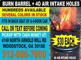 Burning Pit Of Fire - metal burn barrel steel burning barrels atlanta georgia 55 gallon