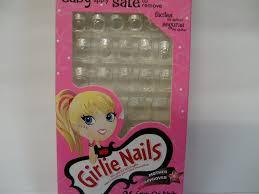 amazon com 1 little fingrs stick on nails for little girls