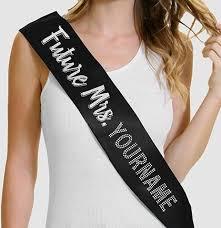 personalized sashes future mrs custom glitter rhinestone sash