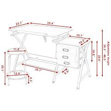 Drafting Table Dimensions Tangkula Drafting Table Craft Drawing Desk