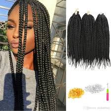 packs of kanekalon hair 2018 3pack lotmedium box braids crochet braids hair extensions