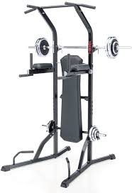 power tower exercise equipment workout home gym squat rack bench
