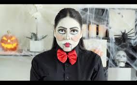 doll halloween makeup tutorial ventriloquist doll halloween makeup tutorial youtube