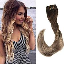 hair extensions 100 remy human hair balayage ombre clip in hair extensions shine