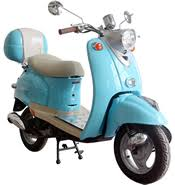 retro 50 49cc moped scooter w chrome mirrors aluminum floor