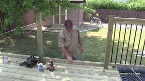 How To Build A Deck Handrail How To Build A Deck 4 Railing Youtube