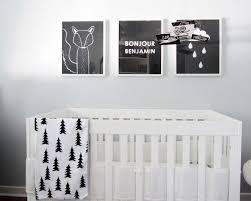 chambre bébé noir et blanc 10 idées de chambres en noir et blanc pour bébé
