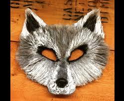wolf mask spirit halloween child sized ghost direwolf ghost mask white wolf mask