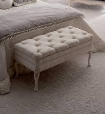 Upholstered Storage Bench Reproduction Designer Italian Button Upholstered Storage Bench
