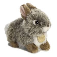 bunny plush realistic stuffed gray baby bunny 7 miyoni plush by