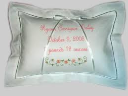 personalized pillows for baby personalized baby gift embroidered newborn birth announcement