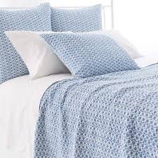 Blue Quilted Coverlet Tyler French Blue Quilt Pine Cone Hill