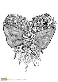 free flower coloring pages adults