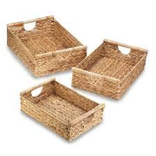 Bathroom Baskets For Storage Astonishing Wicker Basket With Handle Storage Made Of Straw Set