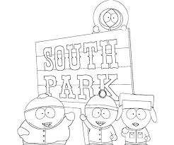 south park coloring pages free printable south park coloring pages