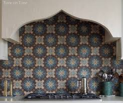 moroccan tile kitchen backsplash moroccan tile backsplash mediterranean kitchen loi thai