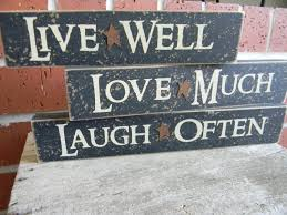Live Laugh Love Signs Live Well Laugh Often Love Much Set Of 3 Shelf Sitter