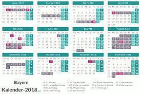 Kalender 2018 Bayern Gesetzliche Feiertage Ferien Bayern 2018 Ferienkalender übersicht