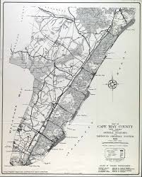 Map Of New Jersey Cities Historical Cape May County New Jersey Maps