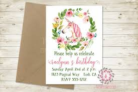 Baby Shower Save The Date Birthday Party Invite Invitation Unicorn Bridal Baby Shower