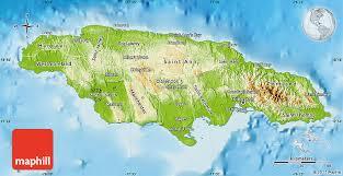 jamaica physical map physical map of jamaica