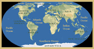 continents on map continents oceans lesson elementary social studies my